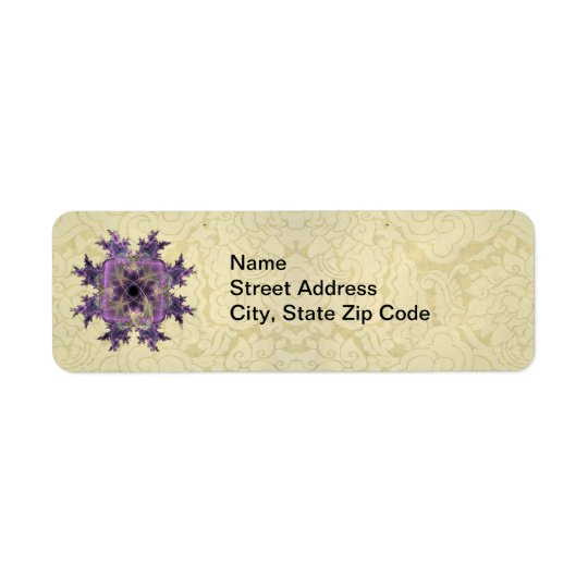 Lavender Ink Blot Return Address Label