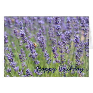Lavender Inspired Birthday Card