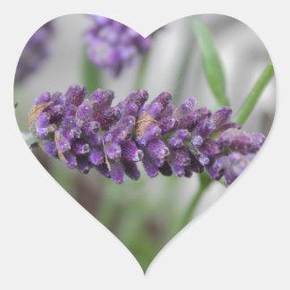 Lavender Iron Heart Sticker