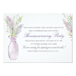 Lavender Jar Housewarming Party Invitation
