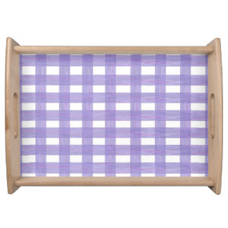 Lavender Lace Gingham Serving Tray
