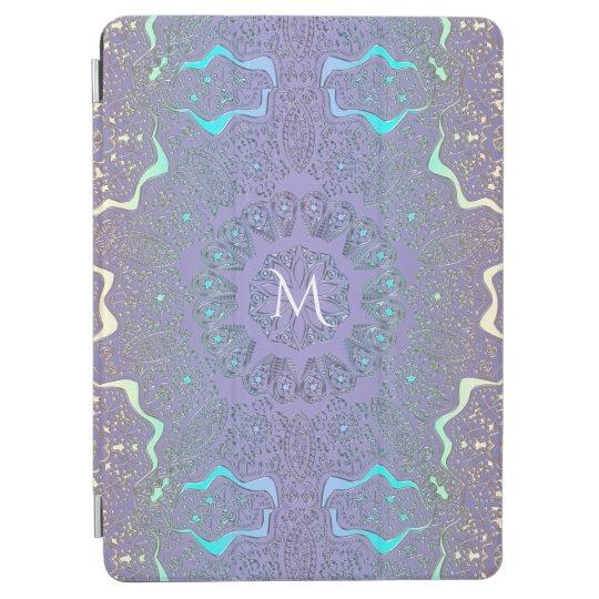 Lavender Lace Pastel Monogram Mandala