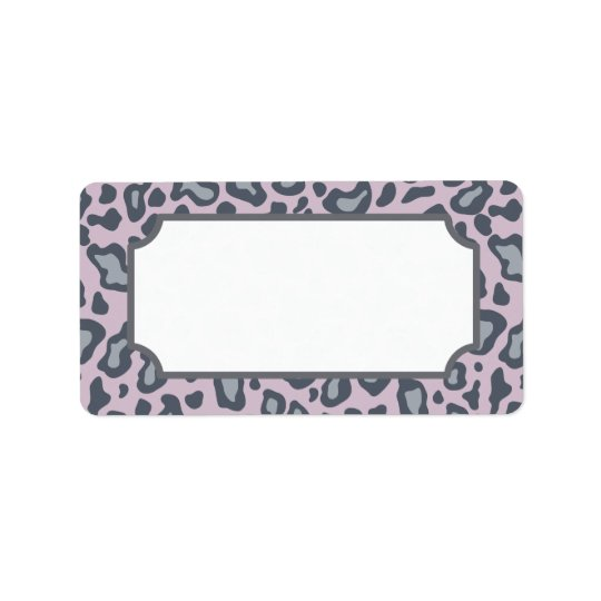 Lavender Leopard Print Label