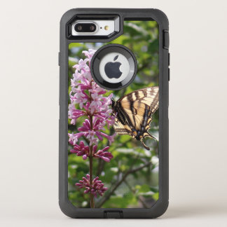 lavender Lilac with tiger butterfly OtterBox Defender iPhone 8 Plus/7 Plus Case