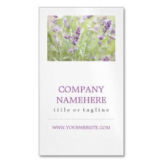 Lavender Magnetic Business Cards