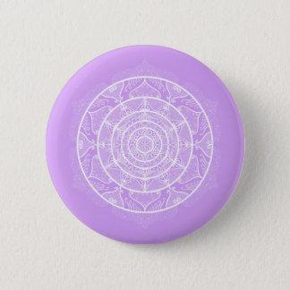 Lavender Mandala 6 Cm Round Badge