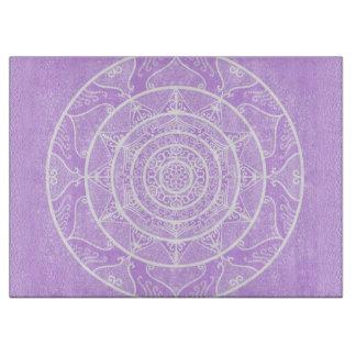 Lavender Mandala Cutting Board