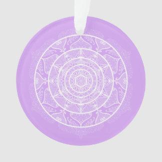 Lavender Mandala Ornament