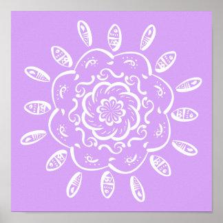 Lavender Mandala Poster