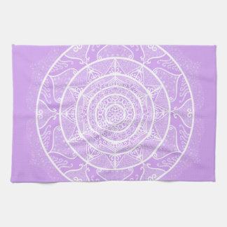 Lavender Mandala Tea Towel