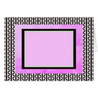Lavender Mauve Motif accent Black Card