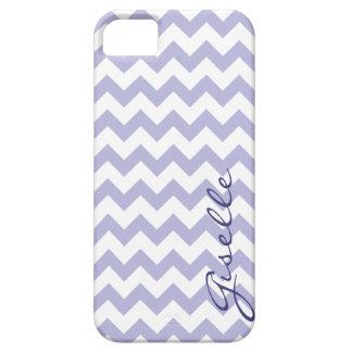 Lavender Monogram Chevron Zigzag Pattern iPhone5 iPhone 5 Case