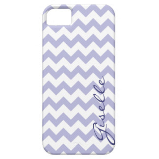 Lavender Monogram Chevron Zigzag Pattern iPhone iPhone 5 Case