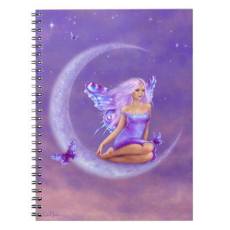 Lavender Moon Butterfly Fairy Notebook