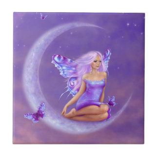 Lavender Moon Fairy Art Tile