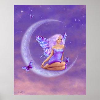 Lavender Moon Fairy Poster Art Print