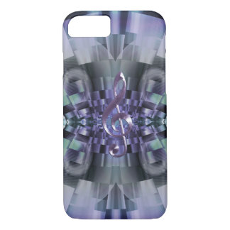 Lavender Music Clef Fractal iPhone 7 Case