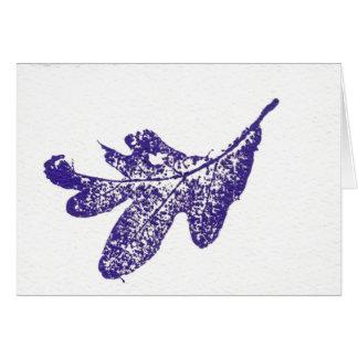 """Lavender Oak Leaf"" Country Greeting Card"