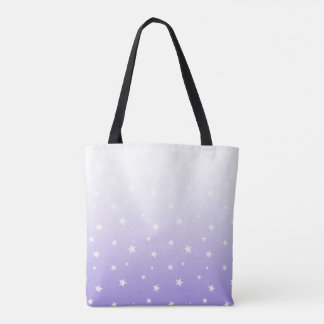 Lavender Ombre Stars Tote Bag