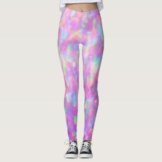 Lavender Opal Bokeh, pink, blue Leggings