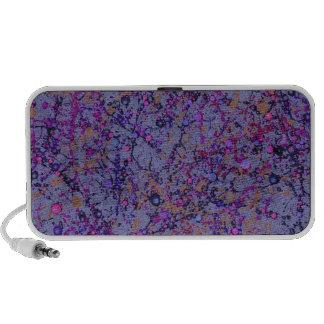 Lavender Paint Splatter Abstract Mp3 Speaker