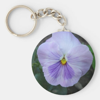 Lavender Pansy Keychain