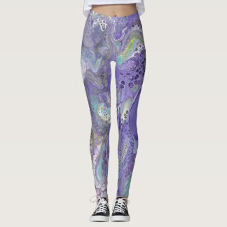 "Lavender & Pastel Abstract Leggings - ""Naomi"""