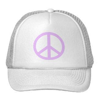 Lavender Peace Sign Trucker Hats