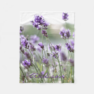 Lavender Personalized Fleece Blankets With Name
