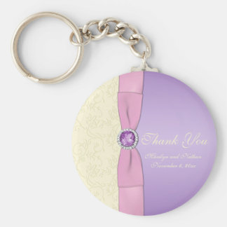 Lavender, Pink, and Ivory Keychain