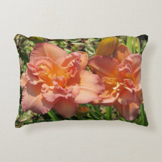 Lavender Pink Double Daylilies h-throw Decorative Cushion