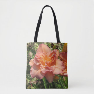Lavender Pink Double Daylilies Tote Bag