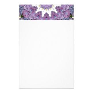Lavender & pink kaleidoscope design stationery