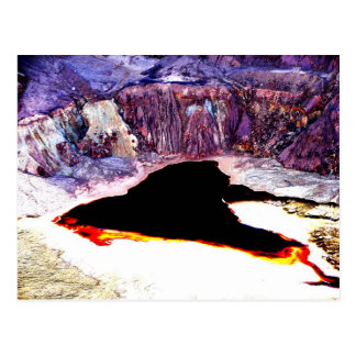 Lavender Pit Mine Abstract Design Postcard