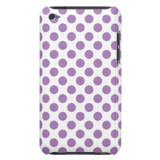 Lavender Polka Dots Barely There iPod Cover