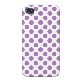 Lavender Polka Dots Case For iPhone 4