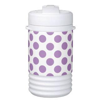 Lavender Polka Dots Drinks Cooler