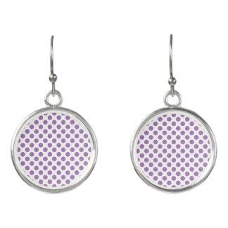 Lavender Polka Dots Earrings