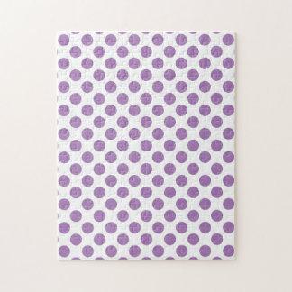Lavender Polka Dots Jigsaw Puzzle