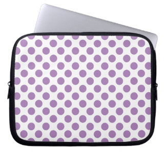 Lavender Polka Dots Laptop Sleeve