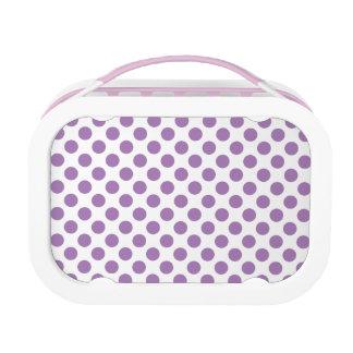Lavender Polka Dots Lunchbox