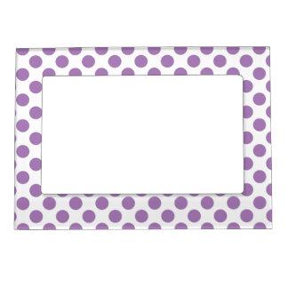 Lavender Polka Dots Magnetic Frame