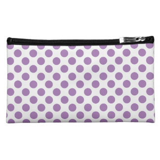 Lavender Polka Dots Makeup Bag