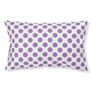 Lavender Polka Dots Pet Bed