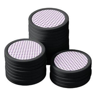 Lavender Polka Dots Poker Chips