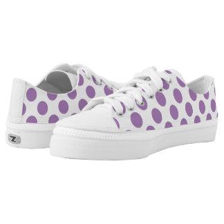 Lavender Polka Dots Printed Shoes
