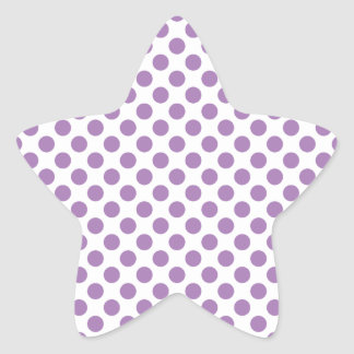Lavender Polka Dots Star Sticker
