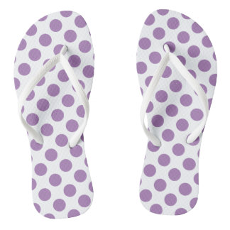 Lavender Polka Dots Thongs