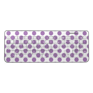Lavender Polka Dots Wireless Keyboard