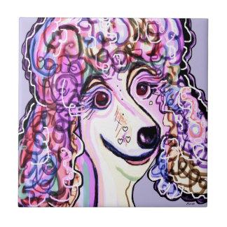Lavender Poodle Tile